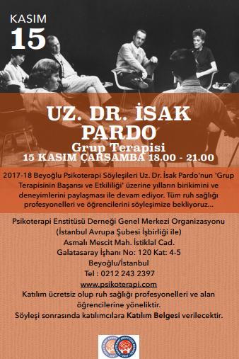 2017_18_Beyoğlu_Psikoterapi_Söyleşileri_Uz_Dr_İsak_Pardo_Afiş_02.11.2017_MFY